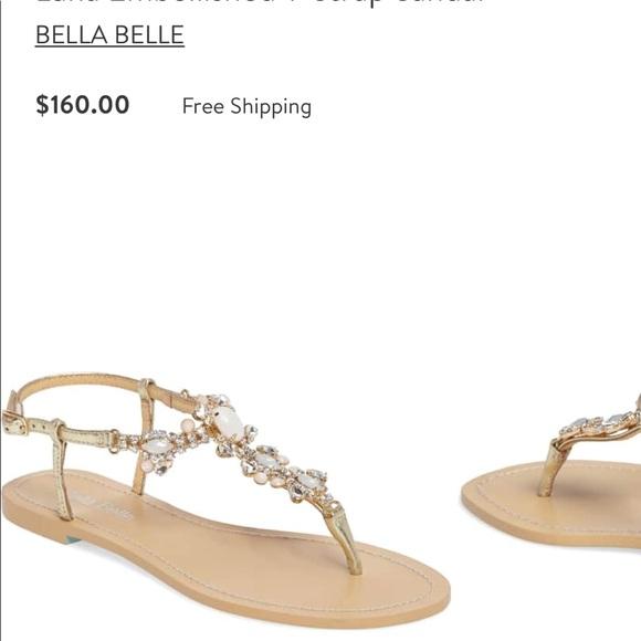 f2d347320ab Bella Belle Shoes - Bella Belle Embellished T Strap Wedding Sandal